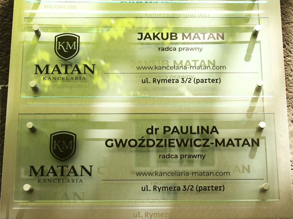 Kancelaria Matan szyld